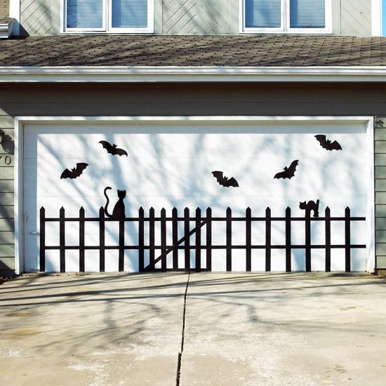 Garage Door Halloween Decoration  Life Family Love 155 Halloween Crafts Treats and