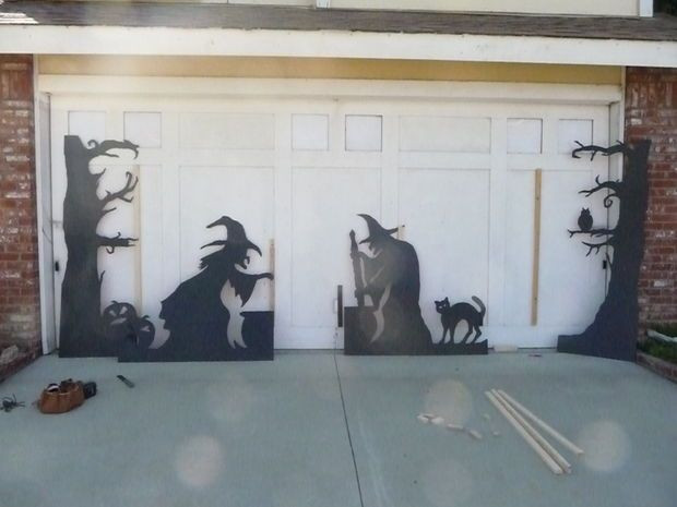 Garage Halloween Decorations  Best 25 Halloween garage door ideas on Pinterest