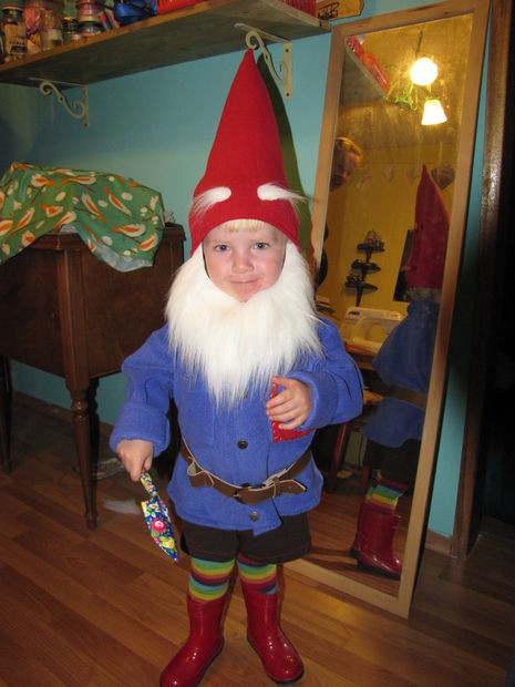 Garden Gnome Costume DIY  Wee Gnome Halloween Costume 13