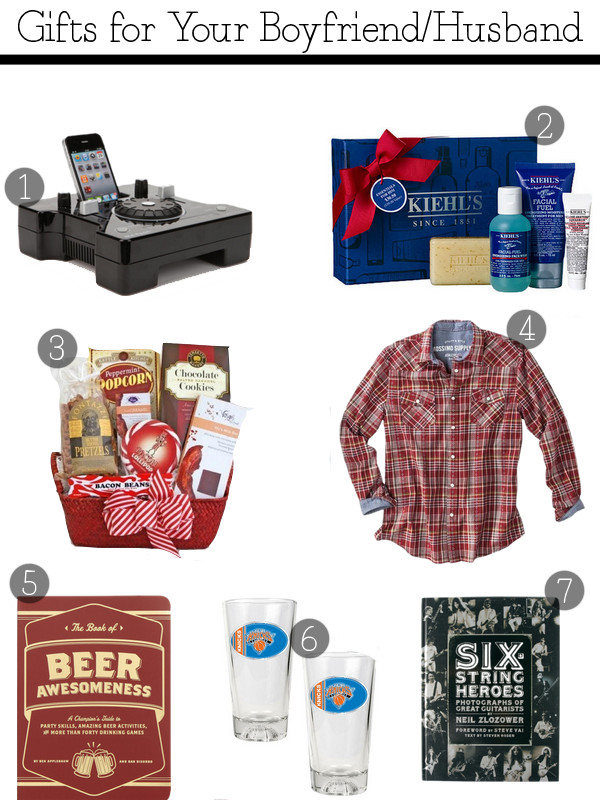 Gift Ideas For Husband For Christmas  Christmas Gifts for Your Boyfriend Husband
