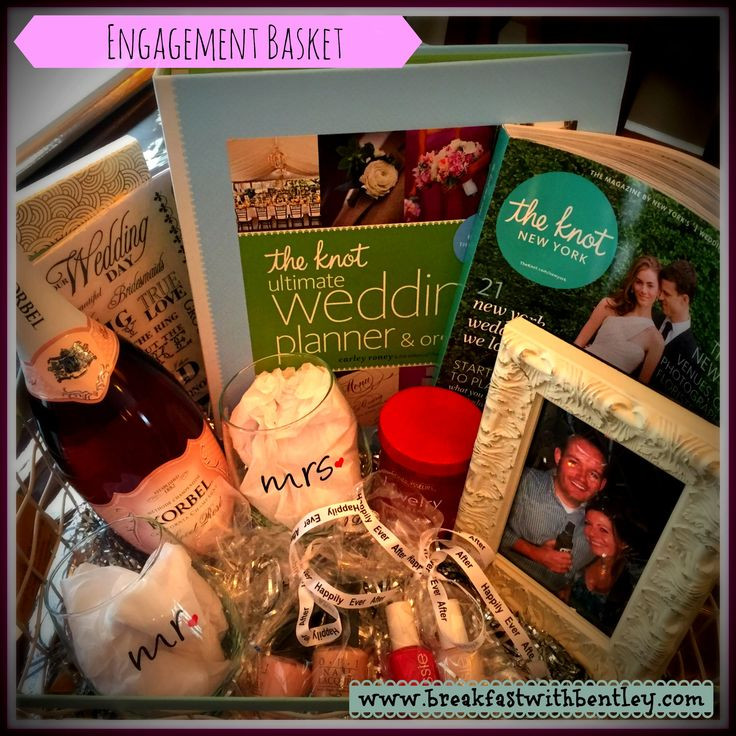 Gift Ideas For Newly Engaged Couple  25 Best Ideas about Engagement Gift Baskets on Pinterest