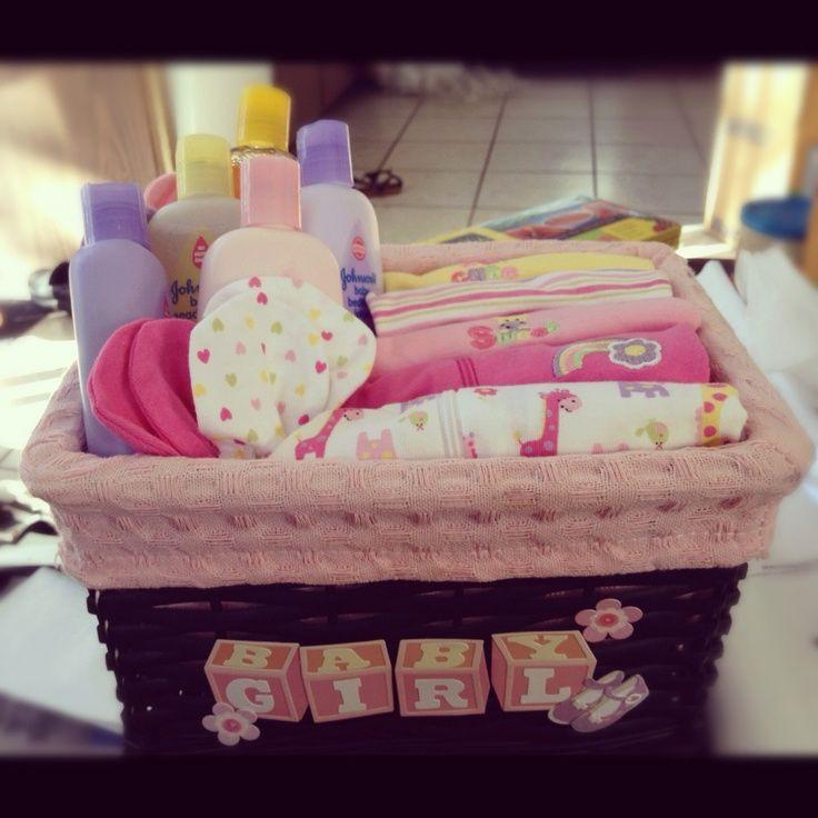 Girl Baby Shower Gift Ideas  Homemade DIY t basket baby shower for girls