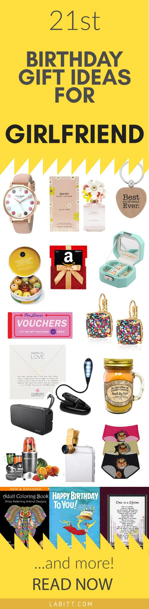 Girlfriend Bday Gift Ideas  Creative 21st Birthday Gift Ideas for Girlfriend 21