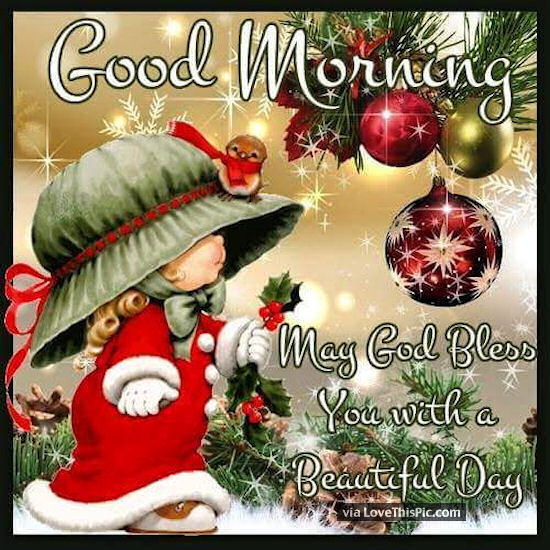 Good Morning Christmas Quotes  Good Morning May God Bless You Christmas Quote