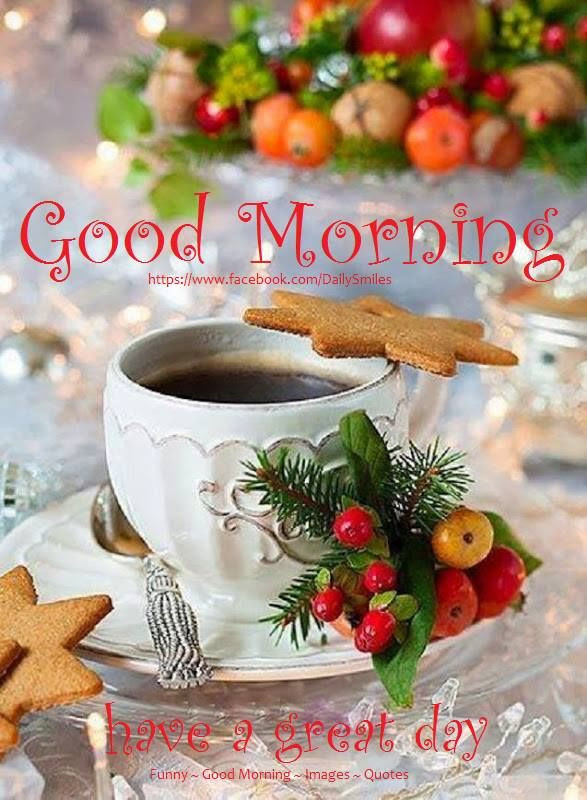 Good Morning Christmas Quotes  Christmas Good Morning Have A Great Day Quote