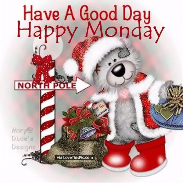 Good Morning Christmas Quotes  Have A Good Day Happy Monday s and