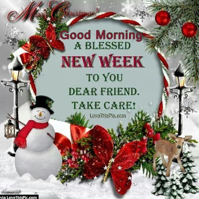 Good Morning Christmas Quotes  17 Best images about Happy New Week wishes on Pinterest