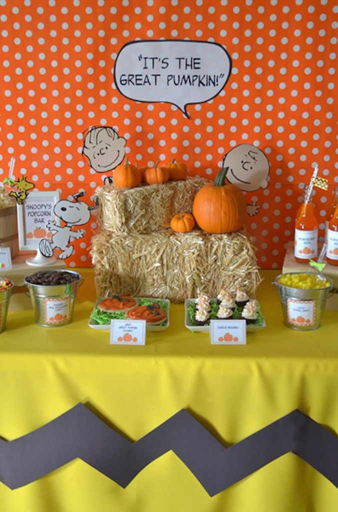 """Great Halloween Party Ideas  """"It s the Great Pumpkin Charlie Brown"""" Halloween Party"""