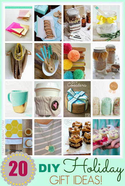 Great Holiday Gift Ideas  Top 20 DIY Holiday Gift Ideas