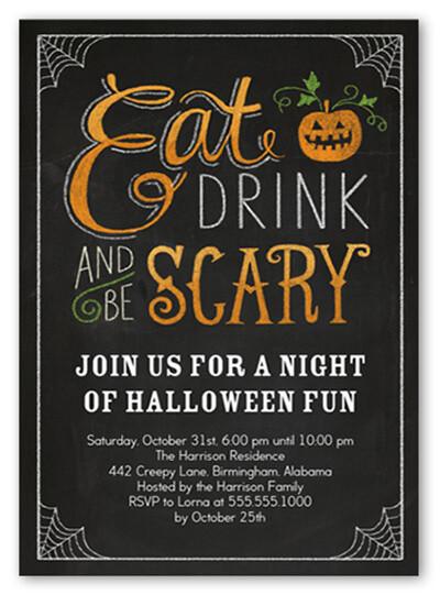 Halloween Birthday Party Invitation Ideas  18 Halloween Invitation Wording Ideas