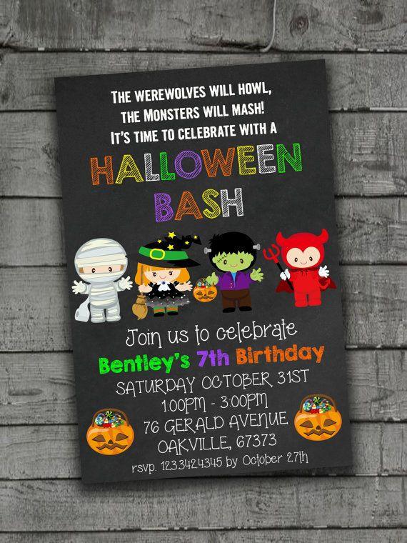 Halloween Birthday Party Invitation Ideas  25 best Halloween invitations kids ideas on Pinterest