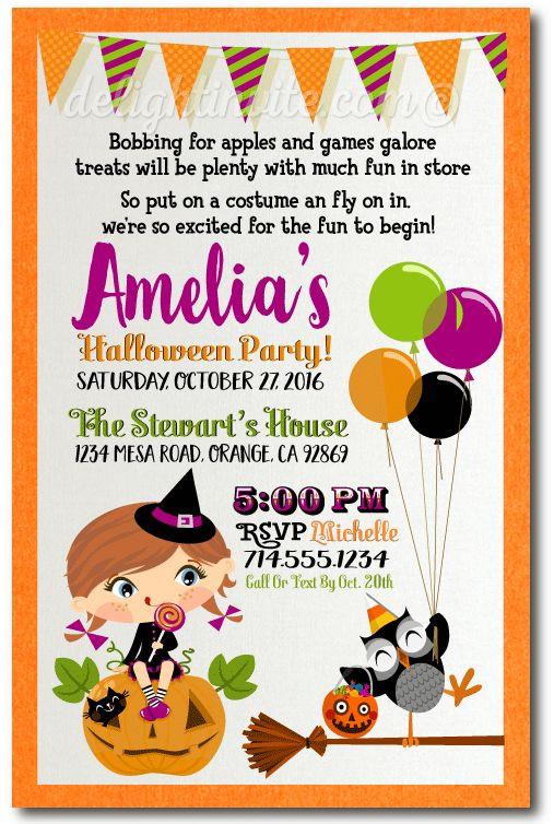 Halloween Birthday Party Invitation Ideas  Best 25 Halloween invitations kids ideas on Pinterest