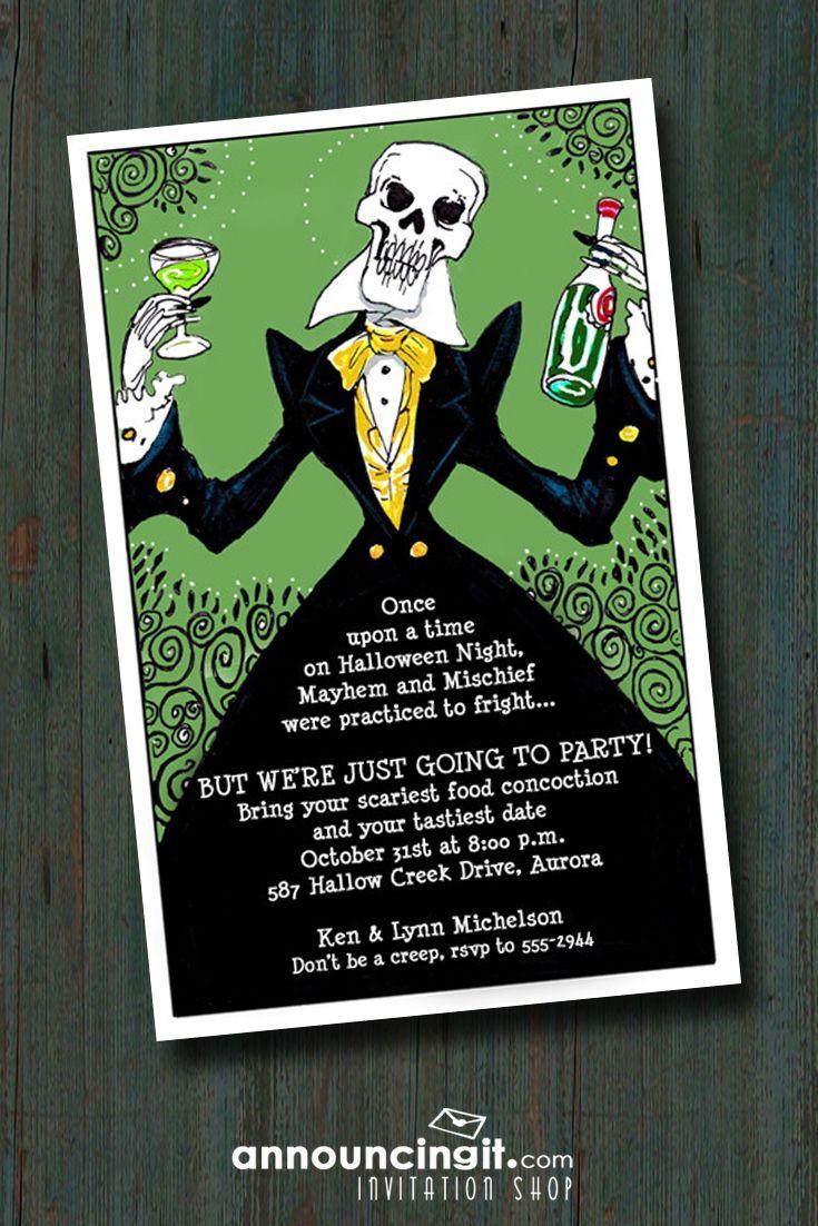 Halloween Birthday Party Invitation Ideas  Best 25 Adult halloween invitations ideas on Pinterest