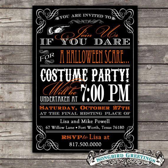 Halloween Birthday Party Invitation Ideas  Best 25 Halloween party invitations ideas on Pinterest
