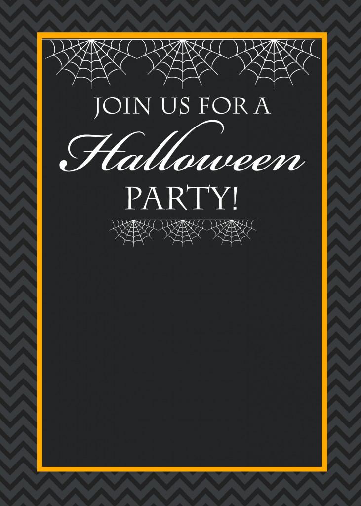 Halloween Birthday Party Invitation Ideas  Free Printable Halloween Party Invitations Yellow Bliss Road