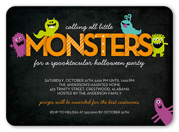 Halloween Birthday Party Invitation Ideas  The Best Halloween Party Themes