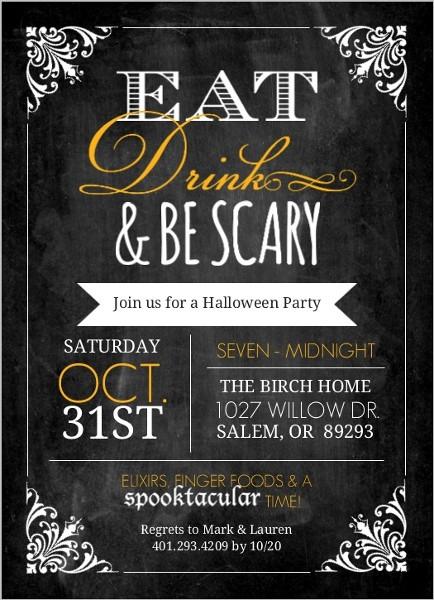 Halloween Birthday Party Invitation Ideas  Glamorous Halloween Party Ideas Invitations Themes