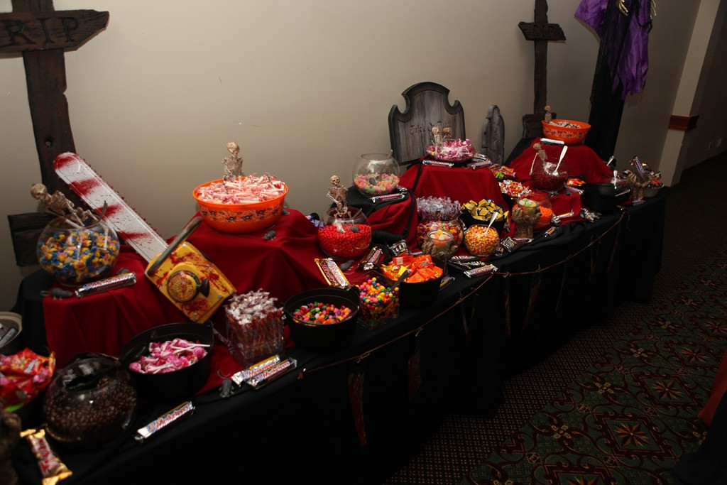 Halloween Candy Table  This Calls For…A Halloween Wedding