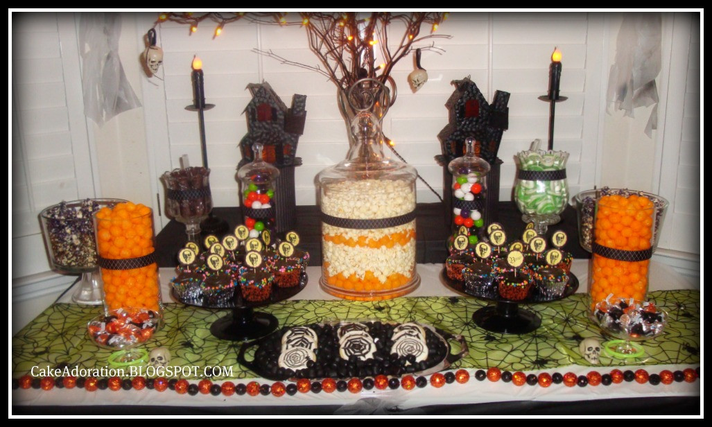 Halloween Candy Table  Cake Adoration Advertise & Dessert and Candy Tables