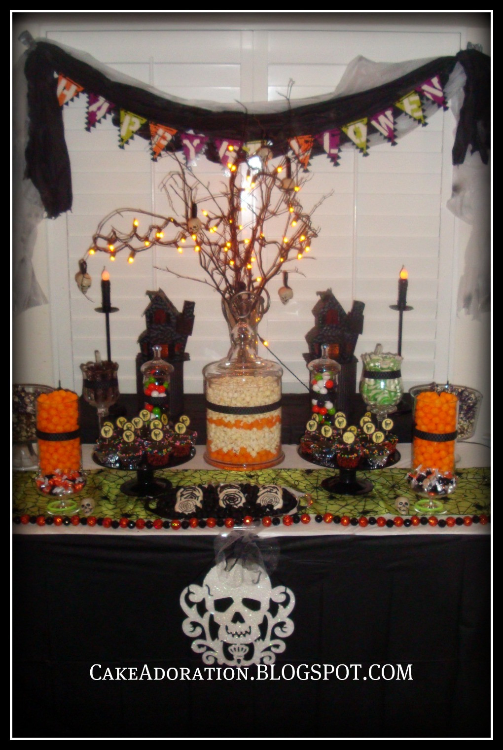 Halloween Candy Table  Cake Adoration Cupcakes Cake Pops & Dessert Tables
