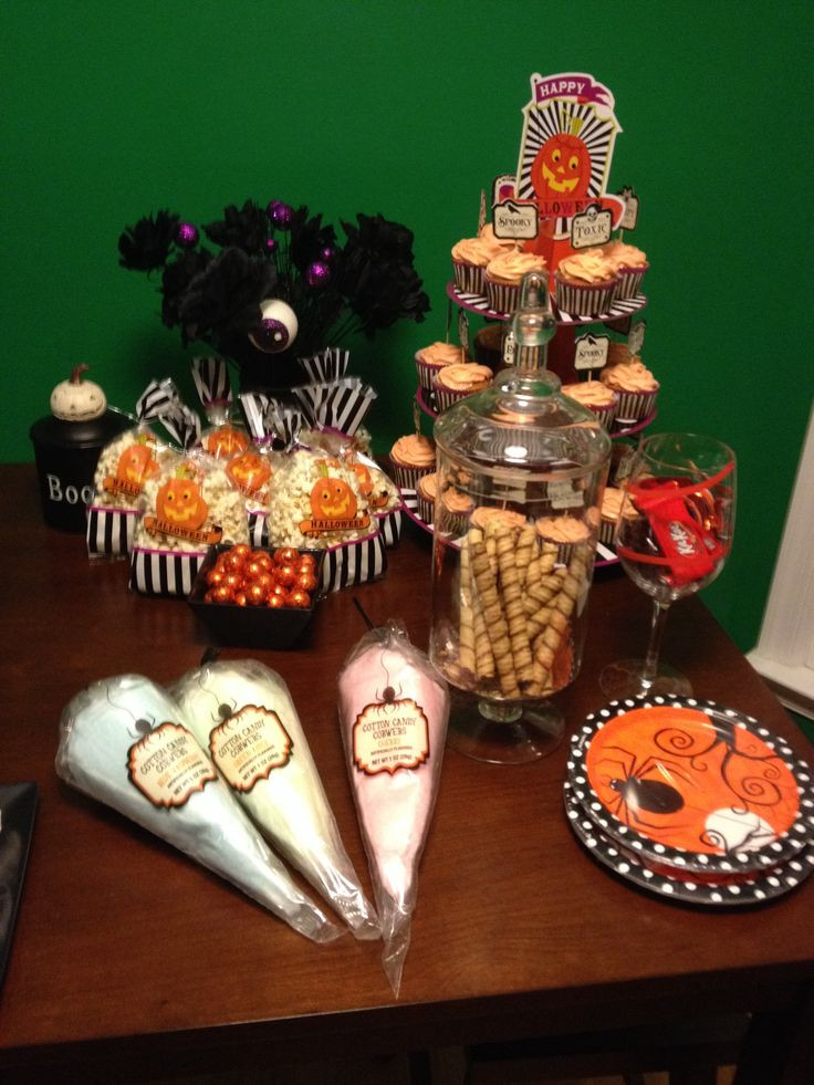 Halloween Candy Table  Halloween candy table Halloween Pinterest