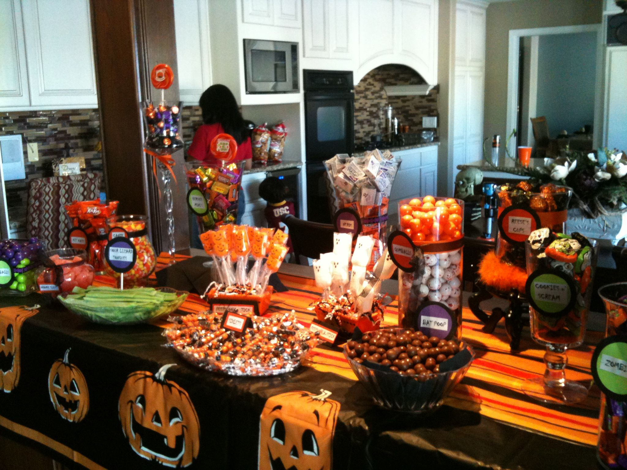 Halloween Candy Table  Halloween Candy Buffet display … Halloween