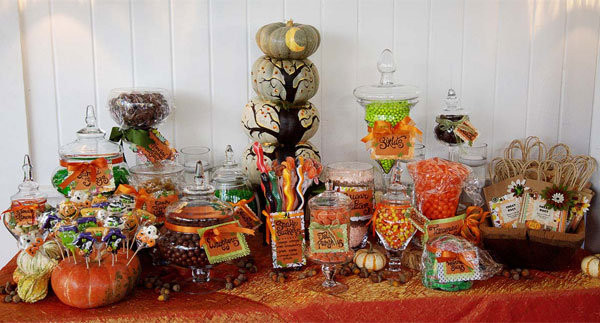 Halloween Candy Table  Trend We Love Candy Buffets