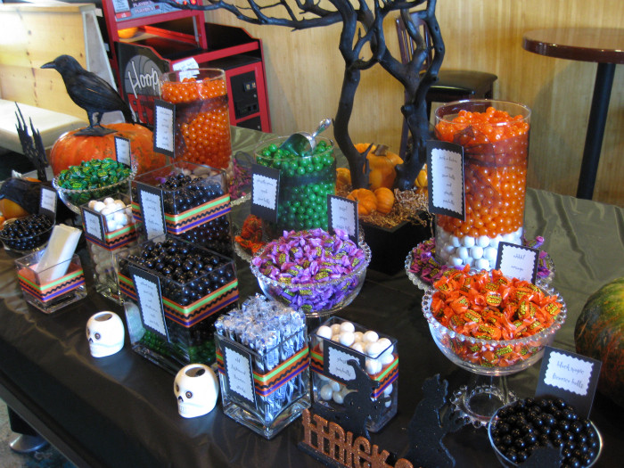 Halloween Candy Table  Sink Your Vampire Teeth Into This Halloween Candy Buffet