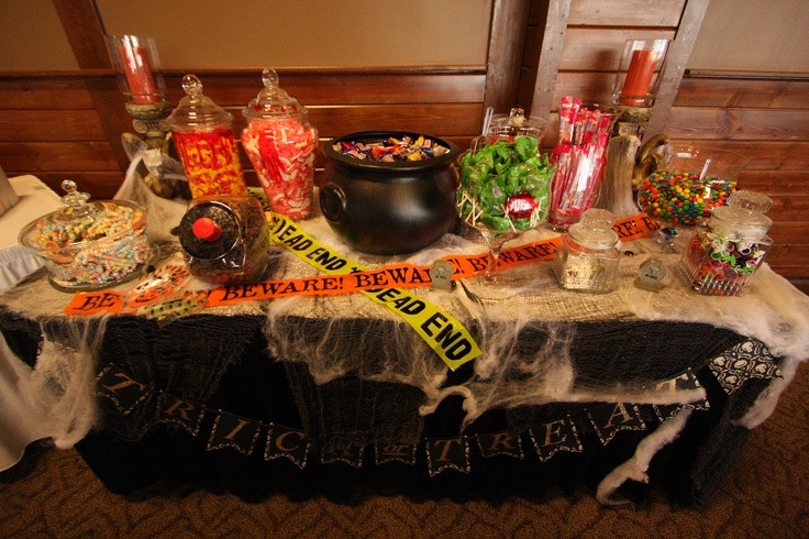 Halloween Candy Table  halloween wedding candy table