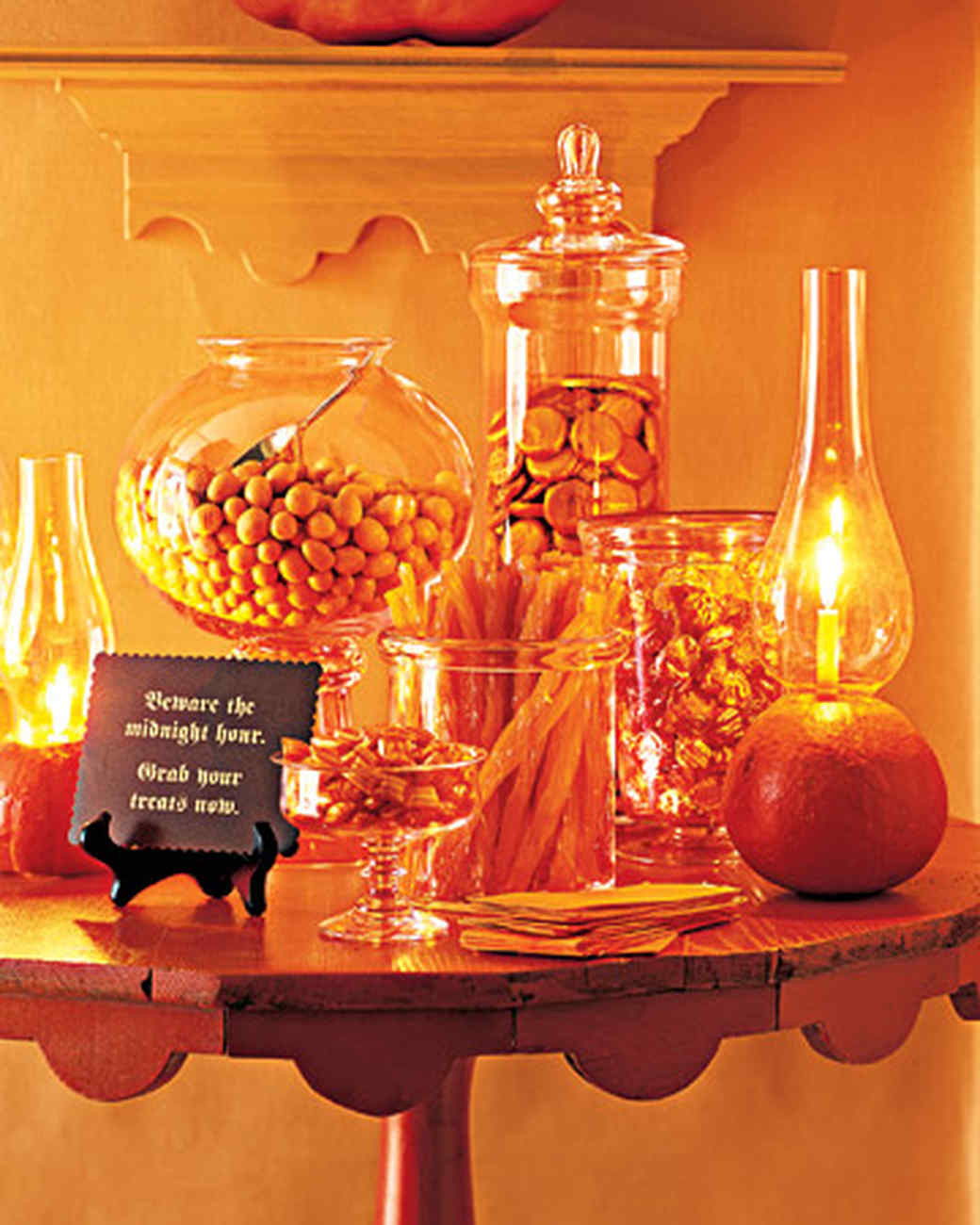 Halloween Candy Table  Pumpkin Lantern