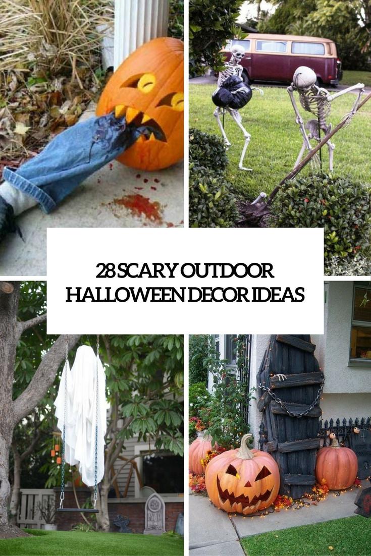 Halloween Decor Outdoor  28 Scary Outdoor Halloween Décor Ideas Shelterness