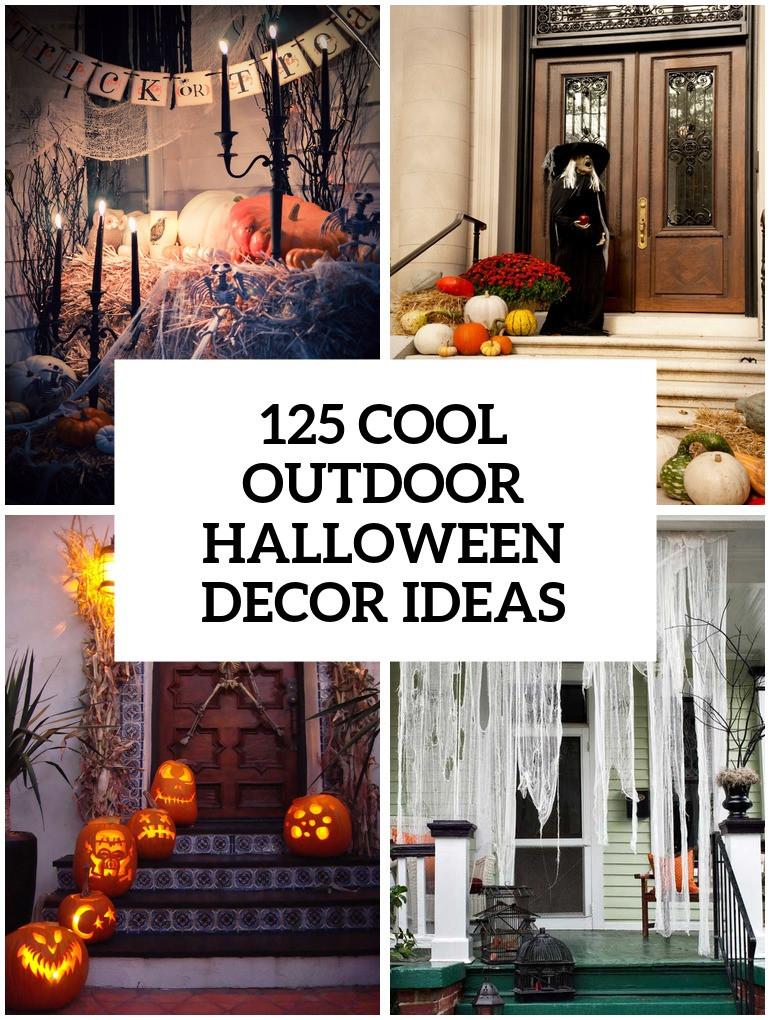 Halloween Decor Outdoor  125 Cool Outdoor Halloween Decorating Ideas DigsDigs