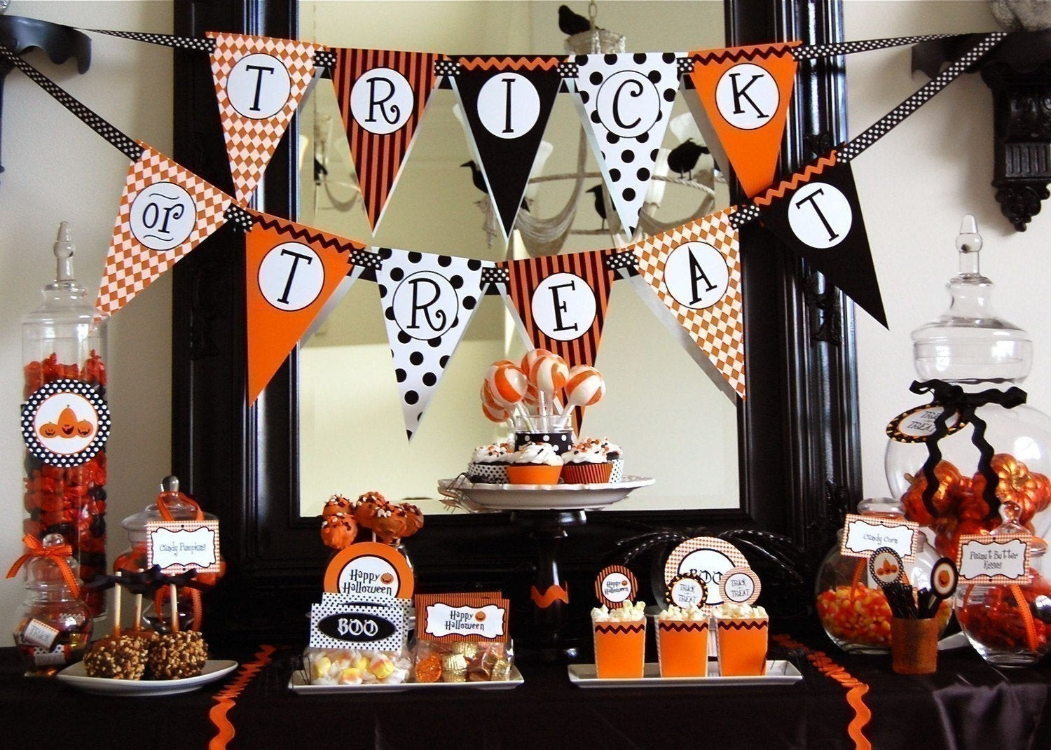 Halloween Decorating Party Ideas  Halloween Trick or Treat Printable Party INSTANT DOWNLOAD