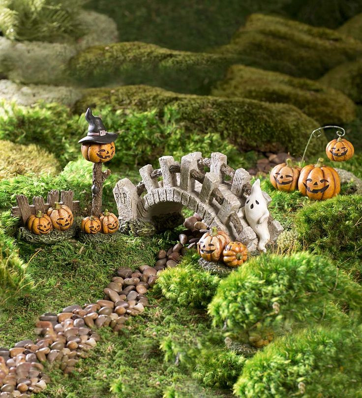 Halloween Fairy Garden Accessories  514 best Miniature Fairy Gardening Fairy Cottages Fairy