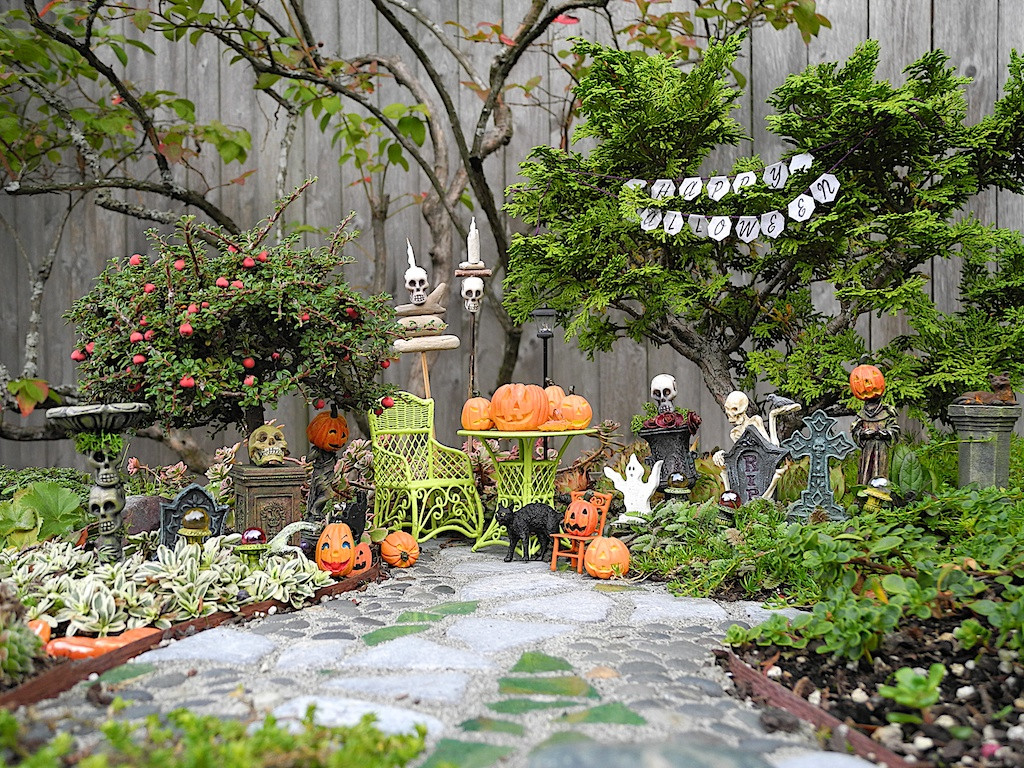Halloween Fairy Garden Accessories  Decorating Fun in the Miniature Halloween Garden – The