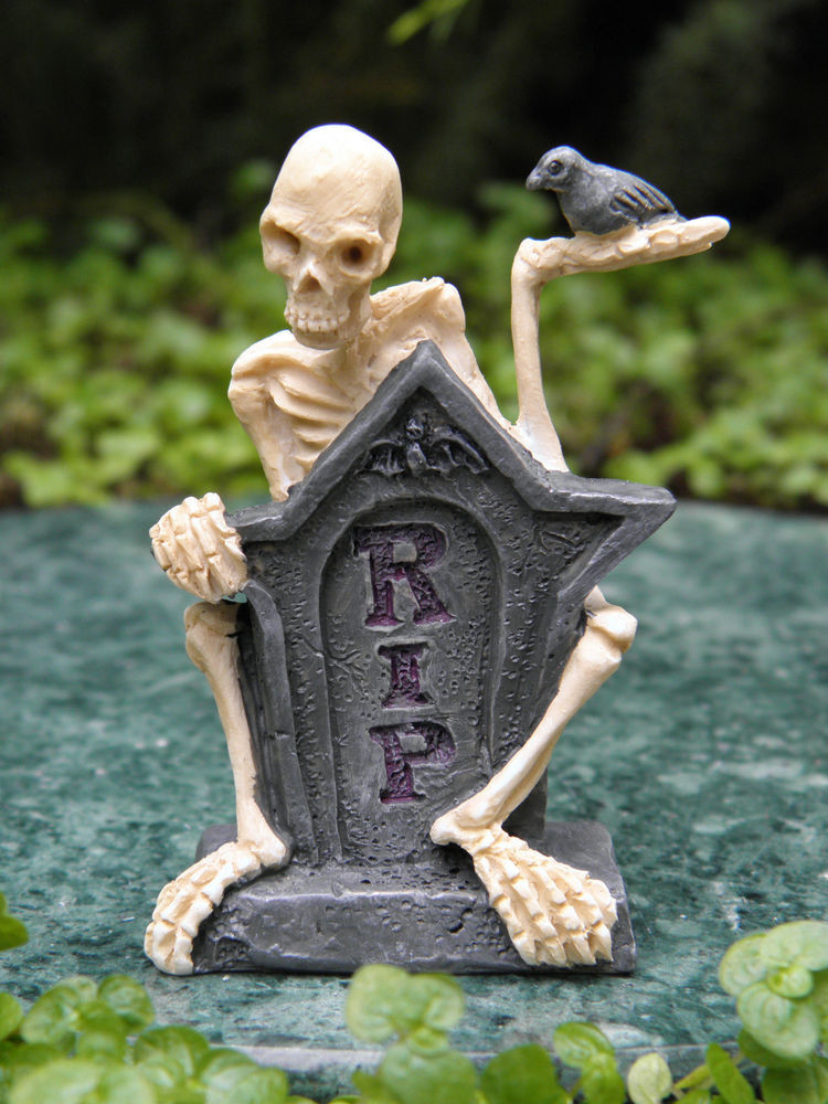 Halloween Fairy Garden Accessories  Miniature Dollhouse FAIRY GARDEN Accessories Mr RIP