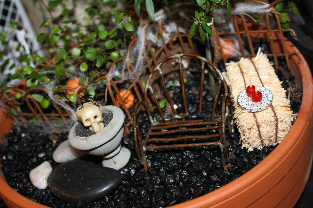 Halloween Fairy Garden Accessories  The PURE Gardener Inc Fall & Halloween Miniature Garden