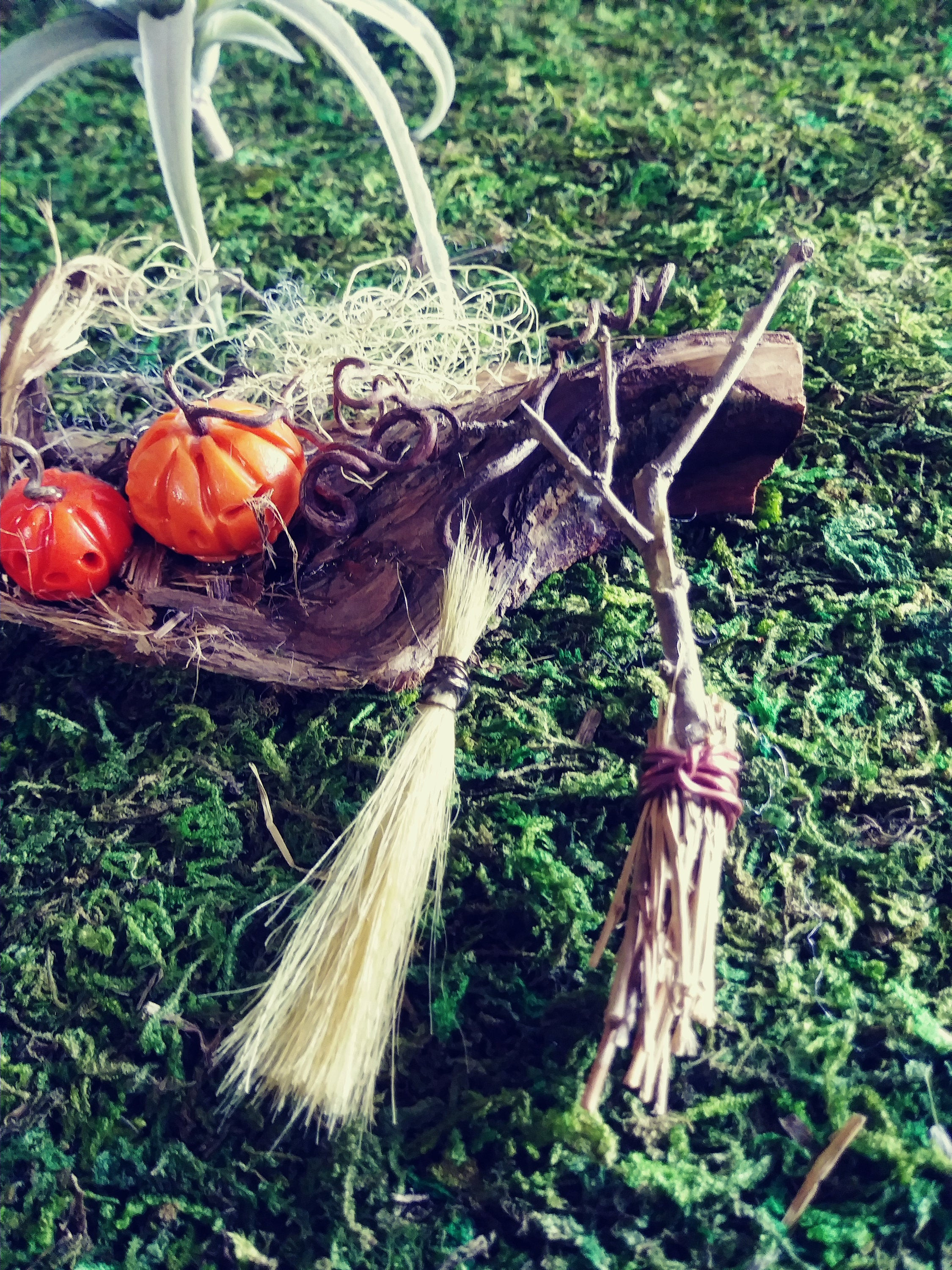 Halloween Fairy Garden Accessories  Tiny Witches Brooms Halloween Fairy Garden Accessories