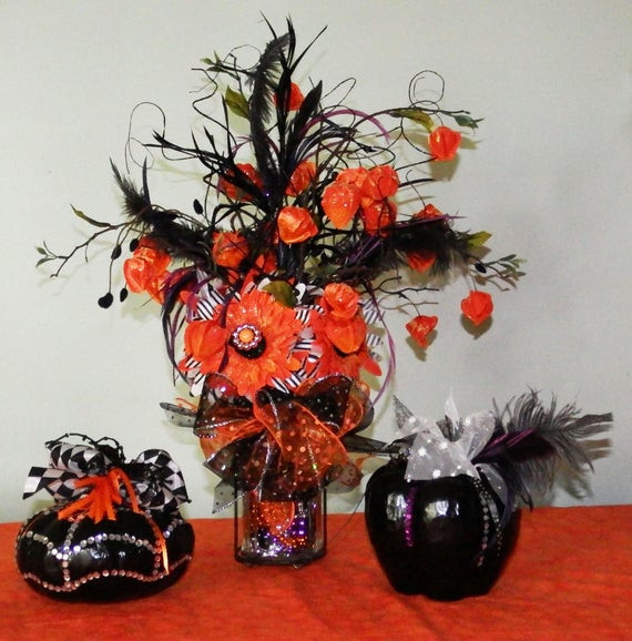 Halloween Flower Arrangements  Halloween floral arrangement Halloween arrangement Fall