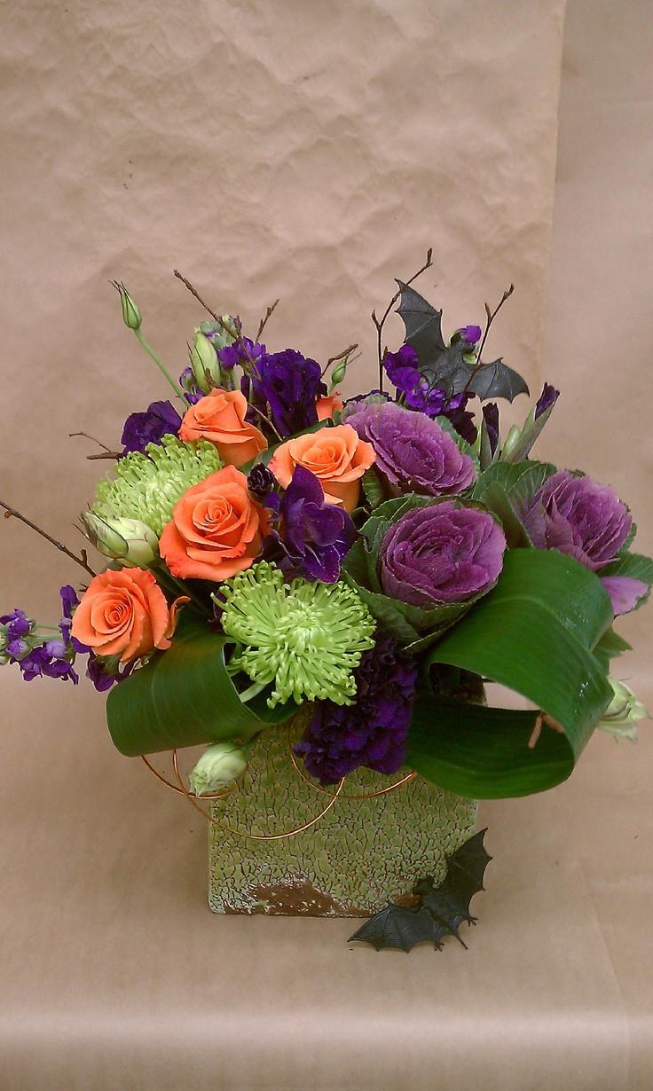 Halloween Flower Arrangements  17 Best images about halloween floral on Pinterest