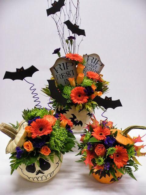 Halloween Flower Arrangements  25 Best Ideas about Halloween Flowers on Pinterest