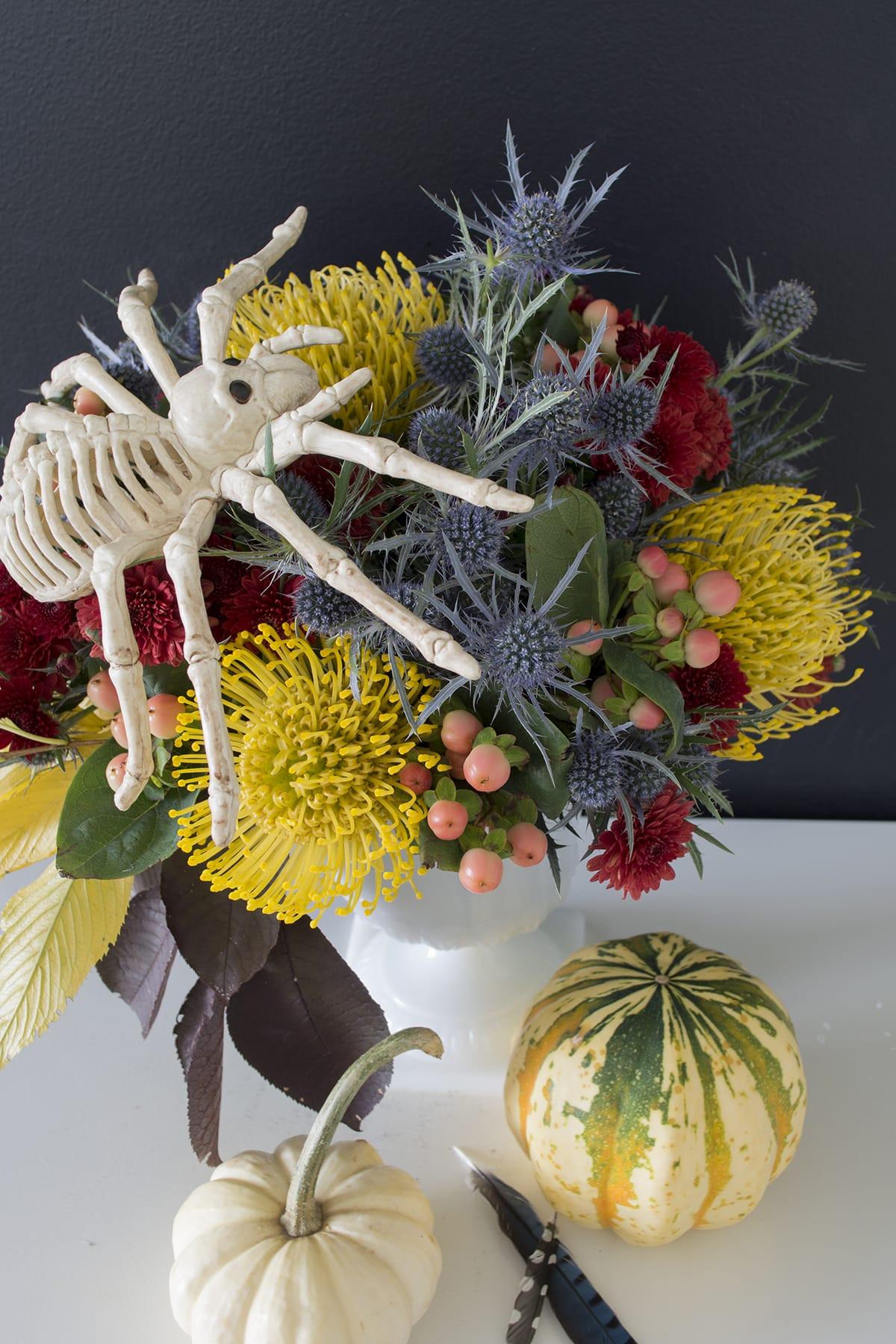 Halloween Flower Arrangements  untraditional Fall and Halloween Flower arrangement