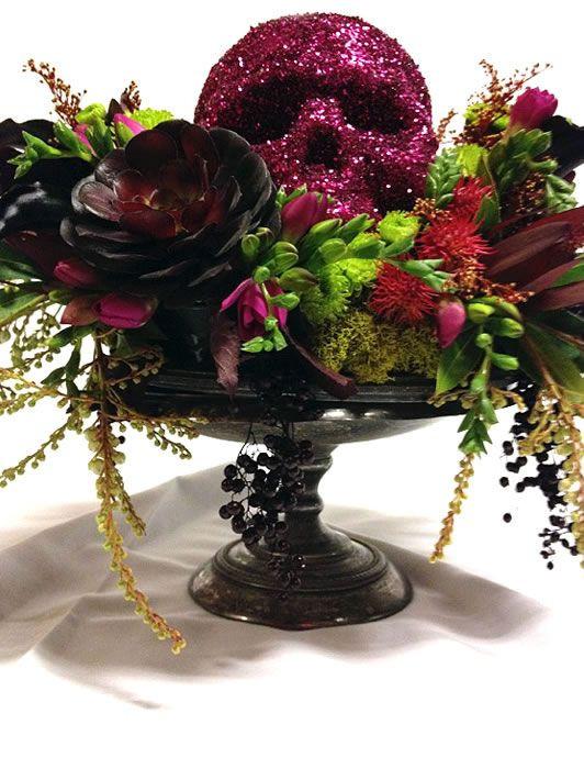 Halloween Flower Arrangements  17 Best ideas about Halloween Centerpieces on Pinterest
