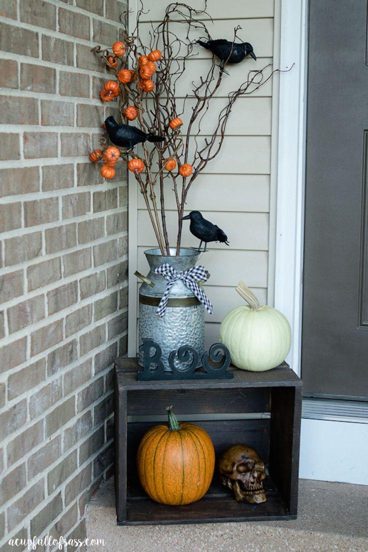 Halloween Front Porch Ideas  Best 25 Halloween front porches ideas on Pinterest