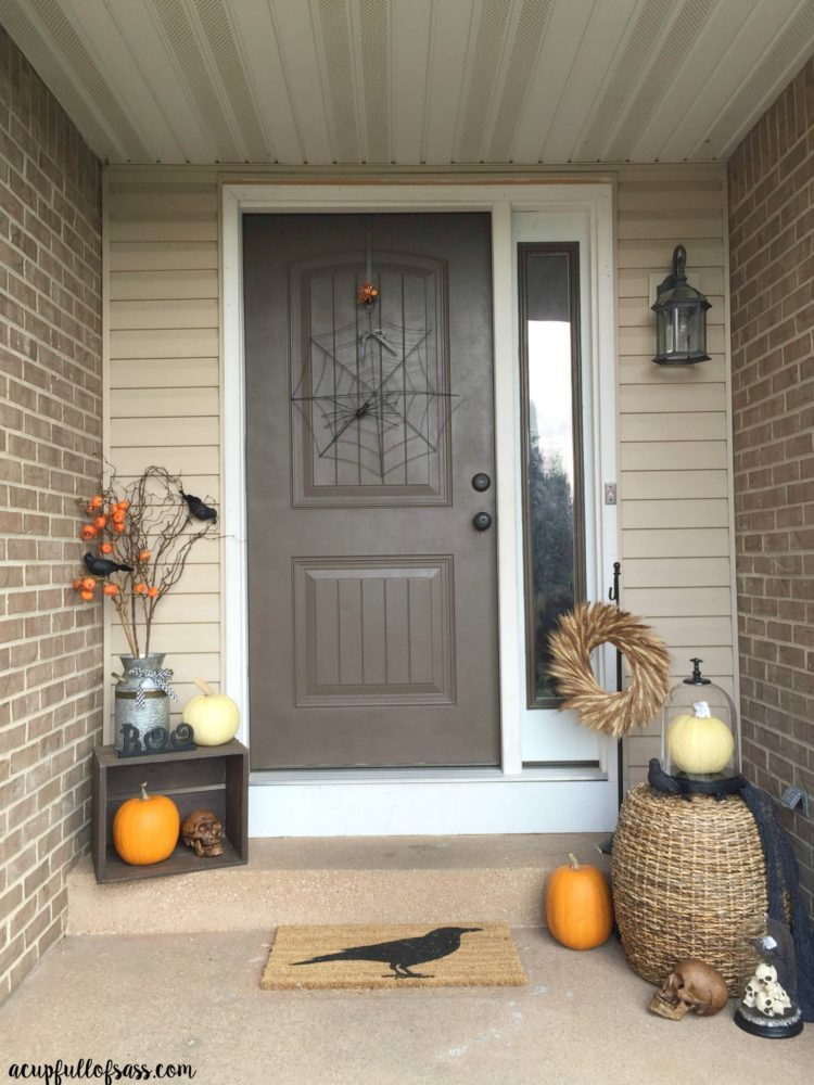 Halloween Front Porch Ideas  Halloween Front Porch Decor Ideas A Cup Full of Sass