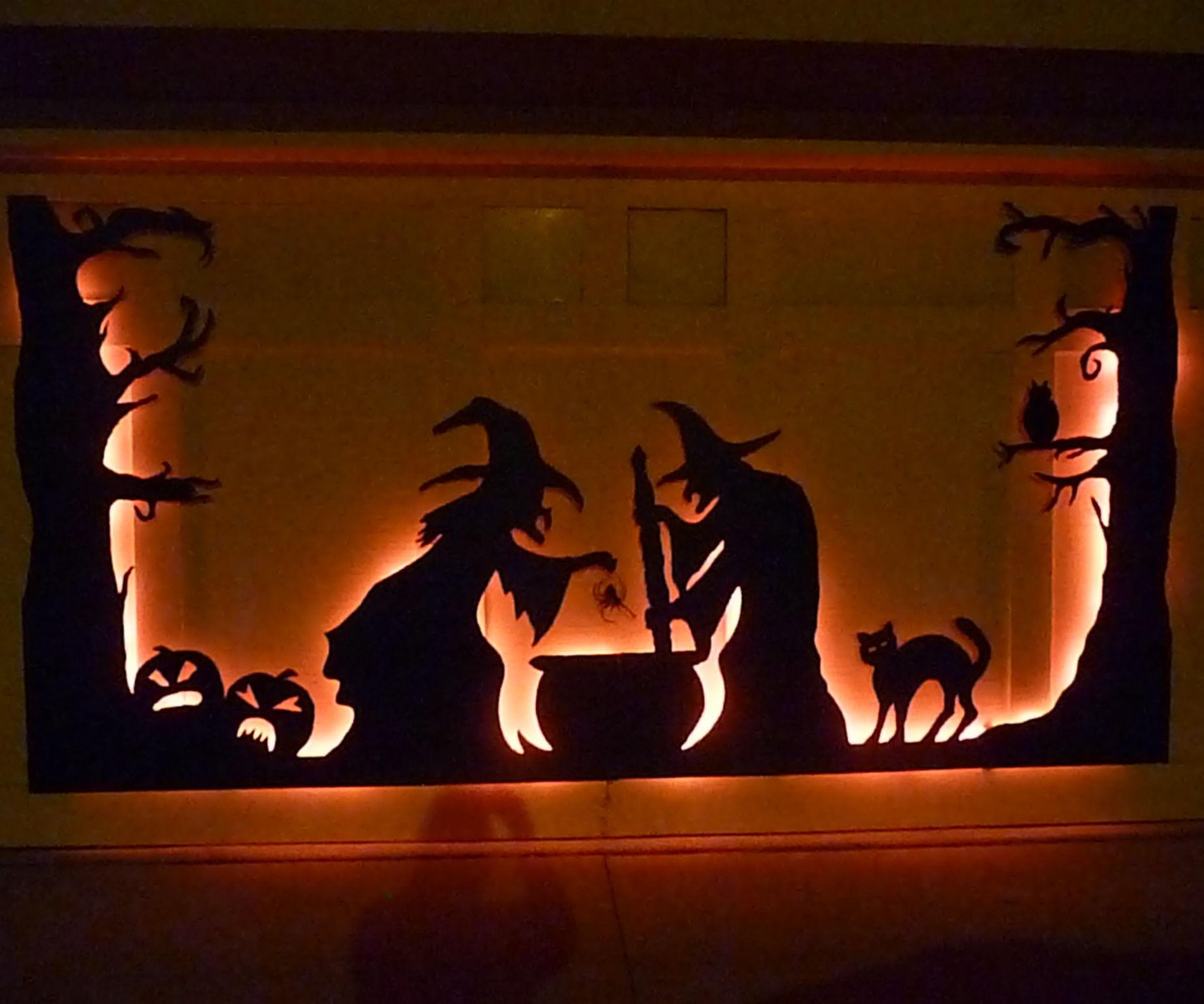 Halloween Garage Door Decoration  Halloween Garage Door Silhouette
