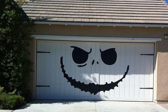 Halloween Garage Door Decoration  Garage door Decor Halloween Pinterest
