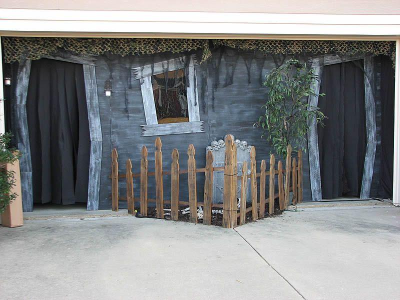 Halloween Garage Door Decoration  Haunted Garage on Pinterest