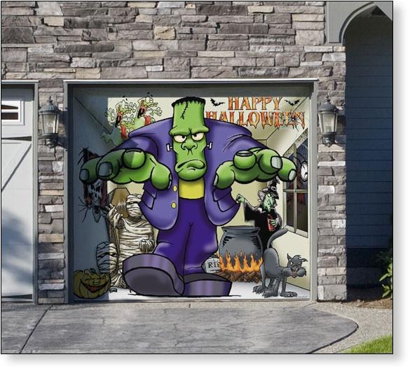 Halloween Garage Door Decoration  8 Best images about Garage Door Decor on Pinterest