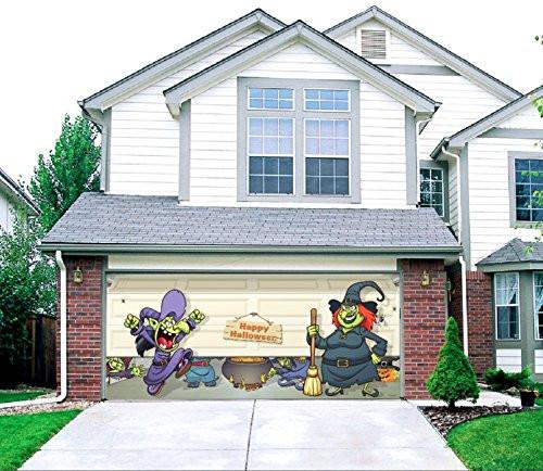Halloween Garage Door Decoration  10 Holiday Inspired Garage Door Decorations Housely